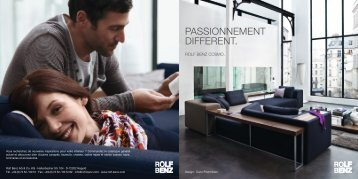 PASSIONNEMENT DIFFERENT. - Rolf Benz