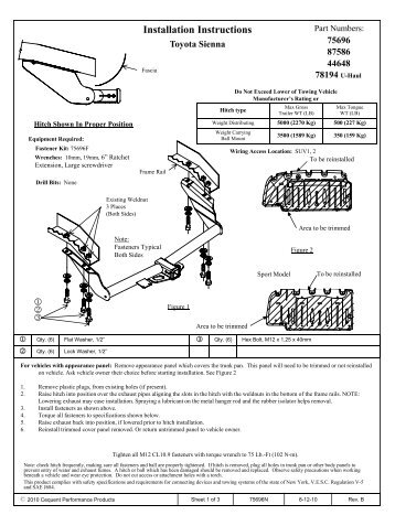 reese hitch installation instructions