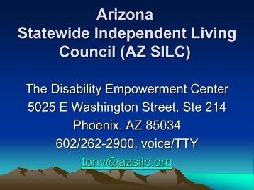 Arizona Statewide Independent Living Council (AZ SILC) - AESA