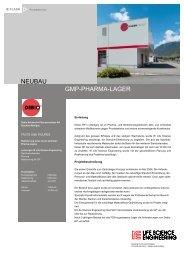 NEUBAU GMP-PHARMA-LAGER - IE Engineering Group AG