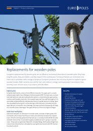 Product information replacements for wooden poles - Europoles