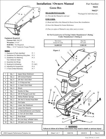 installation instructions mounting kit ford f250/f350/f450