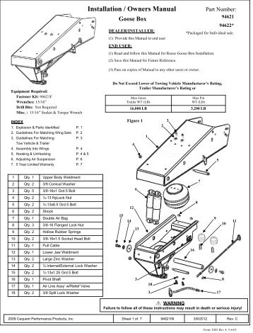 2012 Owner's Manual Attention! Please Read First
