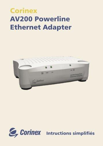 Corinex AV200 Powerline Ethernet Adapter