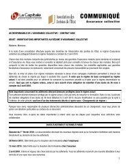COMMUNIQUÉ - La Capitale assurances générales