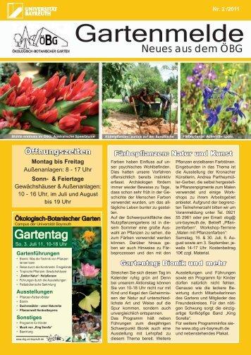 Ausgabe 2011/2 - Ökologisch-Botanischer Garten - Universität ...