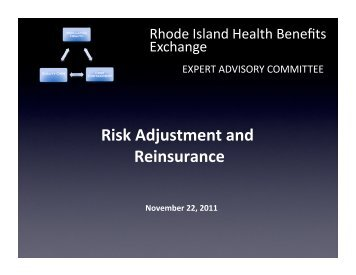 10.21.11 Risk Adjustment and Reinsurance - State of Rhode Island ...