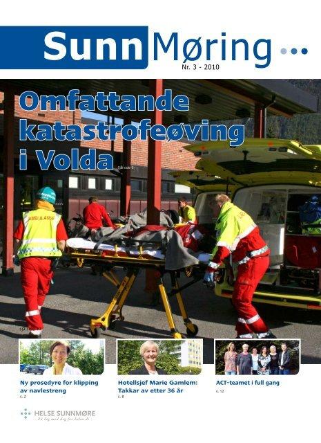 Omfattande katastrofeøving - Helse Midt-Norge