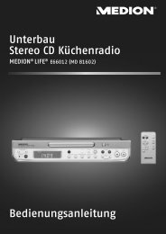 81602 Küchenradio Cover DE DIN A5.FH11 - Medion