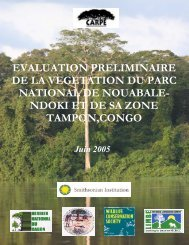 ndoki et de sa zone tampon,congo - Impact monitoring of Forest ...