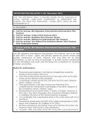 Opportunities Bulletins # 102 November - The Royal Film ...