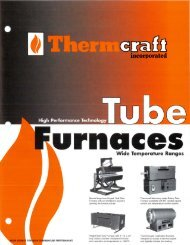 the Tube Furnaces Brochure - Thermcraft Inc.