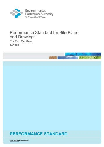 Performance Standard for Site Plans and Drawings ...