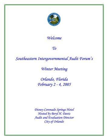 Agenda - intergovernmental audit forums