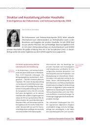 Struktur und Ausstattung privater Haushalte - Statistisches ...