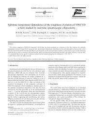Substrate temperature dependence of the roughness evolution of ...
