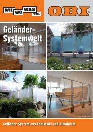 Geländer- Systemwelt - Obi