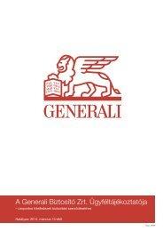 A Biztosító Ügyféltájékoztatója - Budapest Bank
