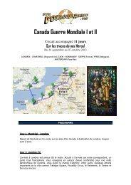 Canada Guerre Mondiale I et II - Voyages à rabais