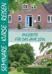 Das Programmheft 2014 - Sozialdienst Nordschleswig