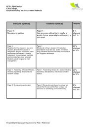 PCOI: Senior briefing on scheme of assessment - The English Cafe