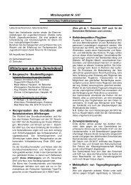 Mitteilungen aus dem Gemeinderat - Gemeinde Bettwiesen