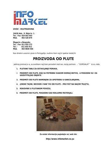 katalog proizvoda od plute u pdf formatu - Info Market