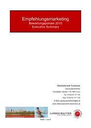 Executive Summary - Oberösterreich Tourismus