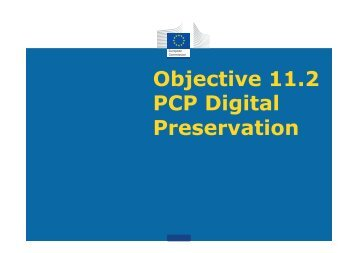 Objective 11.2 PCP Digital Preservation - ICTIC.org