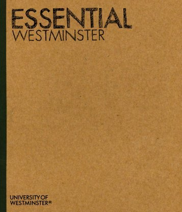 Essential Westminster 2012/13 (PDF 11MB) - University of ...