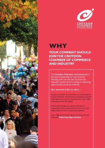 your company should join the croydon chamber of commerce and ...