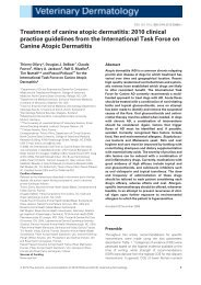Treatment of canine atopic dermatitis: 2010 clinical practice ...