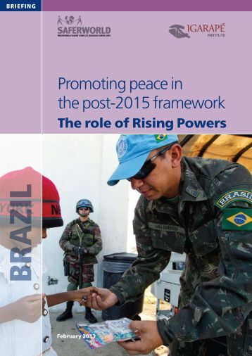 Promoting peace in the post-2015 framework - Saferworld