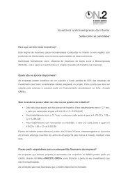 Incentivos a Microempresas do Interior - O Novo Norte - Qren