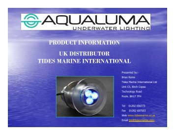product information uk distributor tides marine ... - Bootselektronik.at