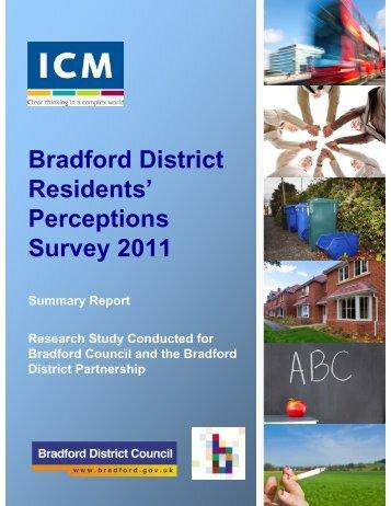 Bradford District Residents' Perceptions Survey 2011
