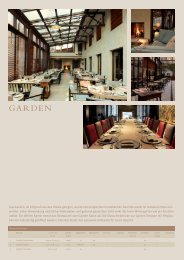 Garden Restaurant (PDF) - München Locations
