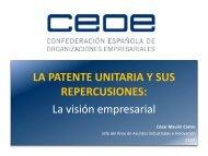 LA PATENTE UNITARIA Y SUS REPERCUSIONES: La visión empresarial