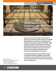 Grout Selection for Ceramic and Stone Tile - Custom Building Products
