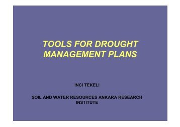 tools for drought management plans - RTC, Regional Training ...