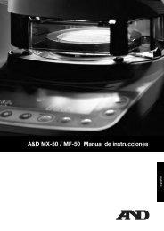 A&D MX-50 / MF-50 Manual de instrucciones