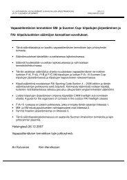 Vapaastilentävien lennokkien SM- ja Suomen Cup- kilpailujen ...