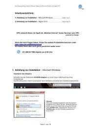 Inhaltsverzeichnis: 1. Anleitung zur Installation – Microsoft Windows