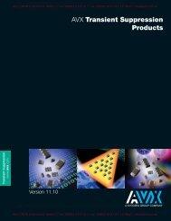 AVX Multilayer Ceramic Transient Voltage Suppressors - Weltron ...