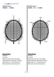 string pattern for 2012 Carlton Badminton - Dunlop