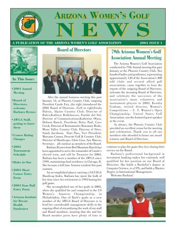 Issue 1 - Arizona Womens Golf Association