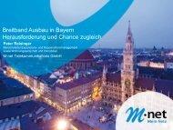 Breitband Ausbau in Bayern Herausforderung und Chance zugleich