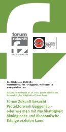 Forum Zukunft besucht Protektorwerk Gaggenau - oder wie man mit ...