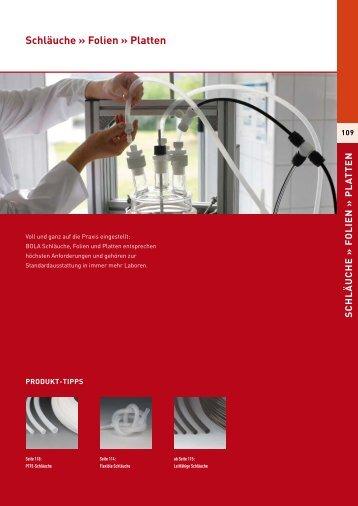 Schläuche » Folien » Platten - Laboratoriumglas