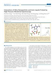Interactions of Silica Nanoparticles and Ionic Liquids Probed by ...